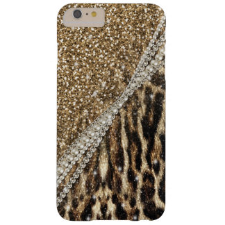 Beautiful chic girly leopard animal faux fur print barely there iPhone 6 plus case