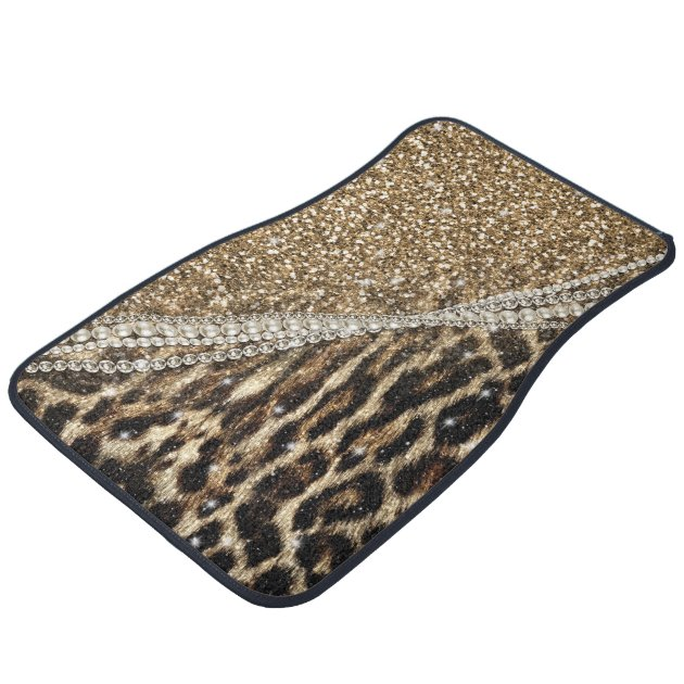 Beautiful Chic Girly Leopard Animal Faux Fur Print Car