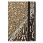 Beautiful chic girly leopard animal faux fur print iPad mini case