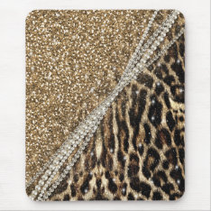 Beautiful Chic Girly Leopard Animal Faux Fur Print Mouse Pad at Zazzle