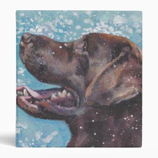 Beautiful Chocolate Lab Labrador Retriever Art Binder