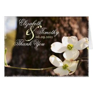 Beautiful Christian Dogwood Thank You Card - V1