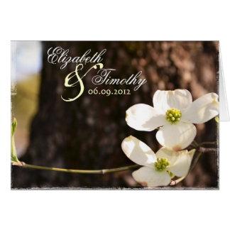 Beautiful Christian Dogwood Thank You Card - V3