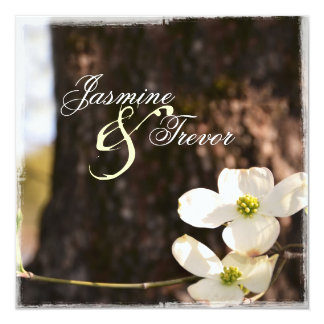 Beautiful Christian Dogwood Wedding Invitation