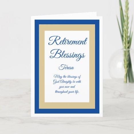 Beautiful Christian retirement card