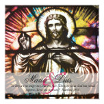 Beautiful Christian Stained Glass Wedding Invite