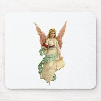 Beautiful christmas angel with star tapetes de ratón