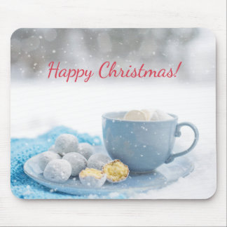 Beautiful Christmas atmosphere with hot chocolate Mouse Pad