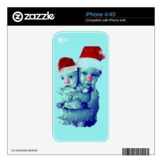 Beautiful Christmas Babies Skin For iPhone 4S
