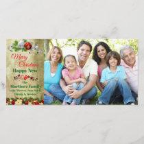 Beautiful Christmas Family Photo & Greetings Holiday Card
