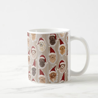 Beautiful Christmas Labradoodle Dog Paintings mug