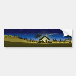 beautiful Christmas nativity image print Bumper Sticker