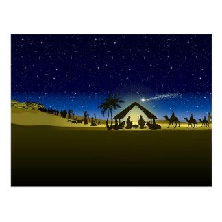 beautiful Christmas nativity image print Postcard