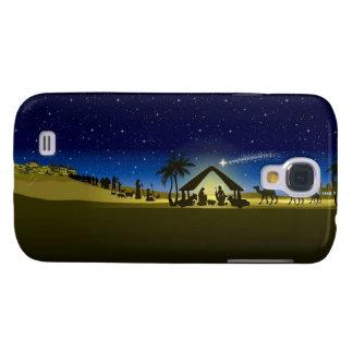 beautiful Christmas nativity image print Samsung Galaxy S4 Cover