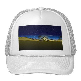 beautiful Christmas nativity image print Trucker Hat