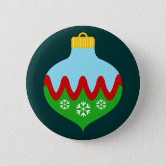 Beautiful Christmas Ornament Button