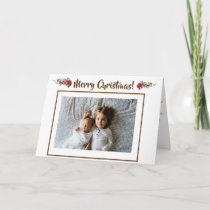 Beautiful Christmas Personalized Photo Postcard