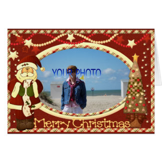 Beautiful Christmas photo frame template Greeting Cards