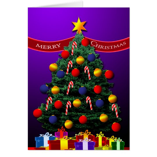Beautiful Christmas Tree Card