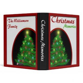 Beautiful Christmas Tree Holiday Memories Binder binder