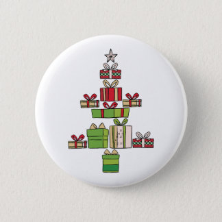 Beautiful Christmas Tree Made From Christmas Gift Button