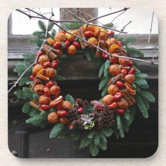 Beautiful! Christmas wreath - Pro photo Coaster
