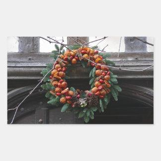 Beautiful! Christmas wreath - Pro photo Rectangle Sticker