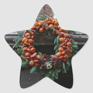 Beautiful! Christmas wreath - Pro photo Star Stickers