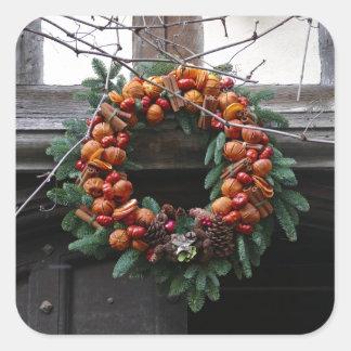 Beautiful! Christmas wreath - Pro photo Square Sticker