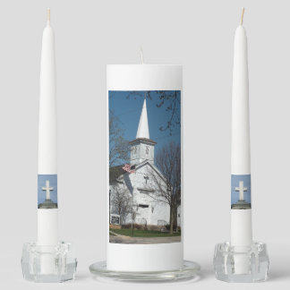 Beautiful Church Image on Unity Candle for Wedding