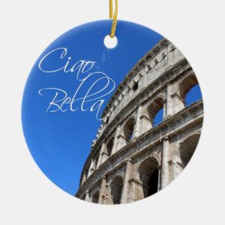 BEAUTIFUL CIAO CLOCK CERAMIC ORNAMENT