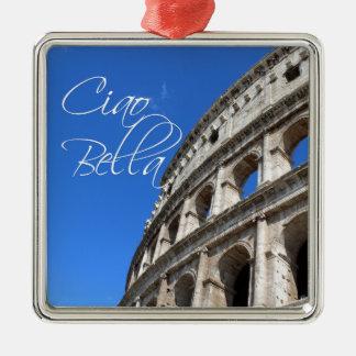 BEAUTIFUL CIAO CLOCK METAL ORNAMENT