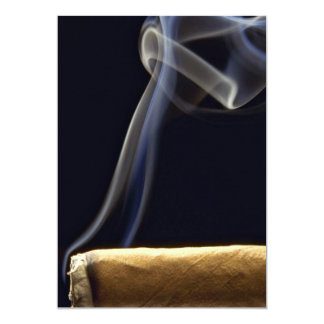 Beautiful Cigar with smoke 5x7 Paper Invitation Card