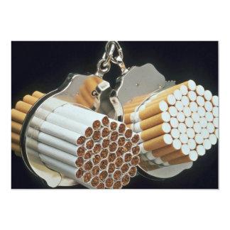 Beautiful Cigarettes and handcuffs 5x7 Paper Invitation Card