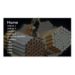 Beautiful Cigarettes and handcuffs Business Card Templates