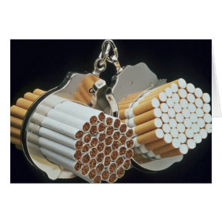 Beautiful Cigarettes and handcuffs Greeting Card