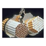 Beautiful Cigarettes and handcuffs Invitation
