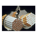 Beautiful Cigarettes and handcuffs Post Card