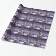Beautiful, classic vintage Christmas picture Gift Wrapping Paper