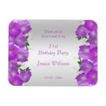 Beautiful Classy Petunias Floral Birthday Magnet