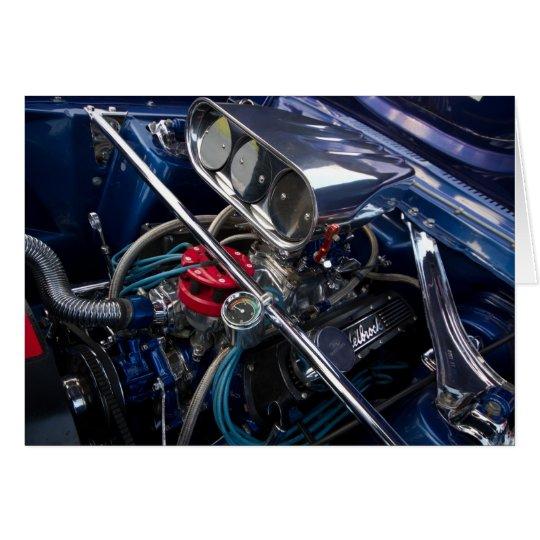 Beautiful Clean Car Engine Card