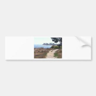 Beautiful Clear Sky at the Beach. Bumper Sticker
