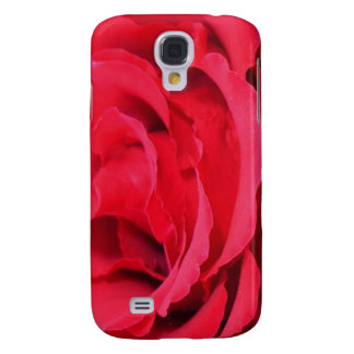Beautiful Close Up Of Red Rose Petals Samsung Galaxy S4 Case