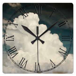Beautiful Cloud Nature Sky Photo Square Wall Clock