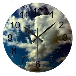 Beautiful Cloud Nature Sky Photo Wall Clock