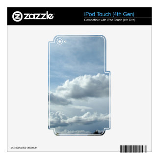 Beautiful clouds and sky.  Landscape photography. Skins For iPod Touch 4G