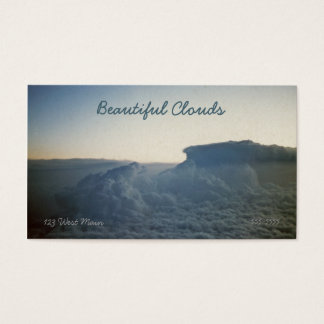 Beautiful Clouds Atmosphere Cloudy Sky Above Business Card
