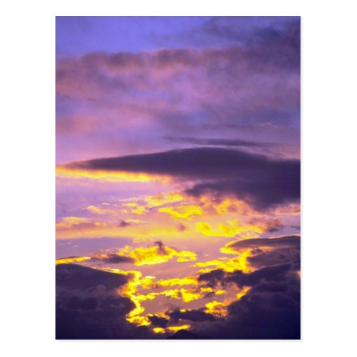 Beautiful Clouds In The Early Evening Postcard