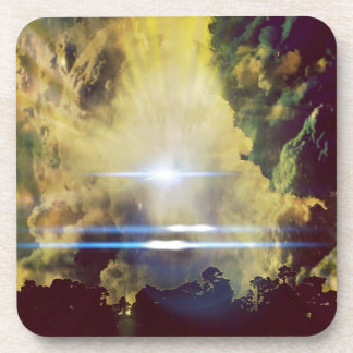 Beautiful Clouds On Planet  Drink Coaster