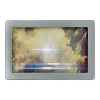 Beautiful Clouds On Planet  Rectangular Belt Buckle